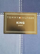 New Tommy Hilfiger Annapolis Blue King Pillow Sham