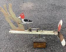 C1950 Hudson Valley New York Mechanical Windvane Whirligig With Pecking Bird