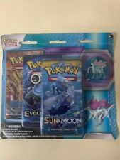 Pokémon With Pin Set With 3 Booster Packs For Card Game TCG CCG Suicune