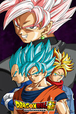 Dragon Ball Super Poster Black Goku Vegeta Blue Trunks 12in x 18in Free Shipping