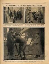 Poilus Soldats Président Raymond Poincaré Front Verdun Télémètre War 1915 WWI