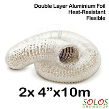 "4""/100mm HYDROPONIC AIR DUCT ALUMINIUM NON-INSULATED DUCTING 20 METERS"