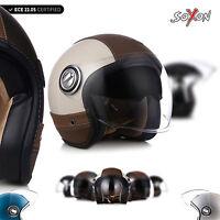 ⛑ SOXON SP-888-PRO OPEN FACE HELMET ⸺ MOTORCYCLE SCOOTER PILOT VINTAGE ⸺ XS – XL