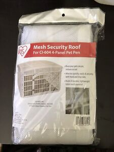 Mesh Security Roof for IRIS 24in 4-panel Pet Playpen White Durable Nylon