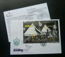 Isle Of Man Scouting 2007 Scout Uniform Camping (miniature FDC)