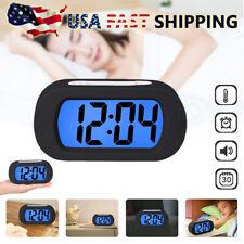 Silicone Digital Alarm Clocks Display Snooze Nightlight Clock For Bedroom Home