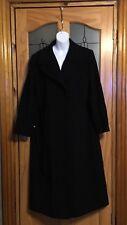 WINDSMOOR LADIES FULL LENGTH BLACK WOOL CASHMERE MIX COAT size 16