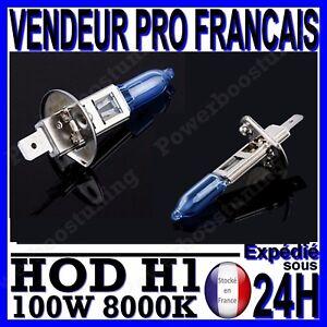 AMPOULE PLASMA HOD H1 100W LAMPE HALOGENE FEU EFFET XENON BLANC BLANCHE 8000K 12