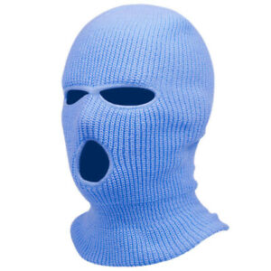 3 Hole Full Ski Face Mask Winter Cap Balaclava Beanie Warm Hood Tactical Hat NEW