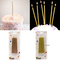 6×Golden Pencil Design Cake Toppers Candle Wedding Birthday Party Favor Supplies