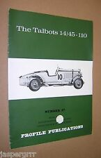 THE TALBOTS 14/45-110. PROFILE PUBLICATION NO.27 1966 1st ED ILLUSTRATED. TUBBS