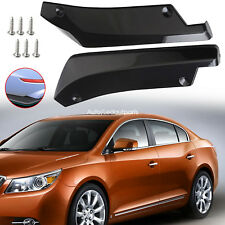 2 Pcs Car Side Skirt Lip With Screws Pp Plastic Rocker Splitters Winglet Wings