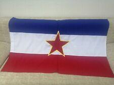 Communist Yugoslavia SFRJ JUGOSLAVIA JUGOSLAVIJA RED STAR FLAG 90 cm x 140 cm