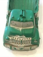Vintage Auburn 518 Green toy bed truck rubber with  Black tires