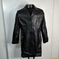 Soft Lambskin LEATHER Jacket Blazer Womens Size M Black insulated
