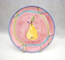 "Caleca Yellow Pear on Pink (like CAA24) Salad Plate(s) 8 1/4"""