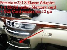 MERCEDES Comand Micro 2gb SD Adattatore PCMCIA + USB CARD READER fino a 32 GB w221 S KL