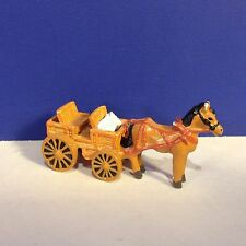 DONKEY CART Miniature Pewter Figurine for Train or Christmas Village