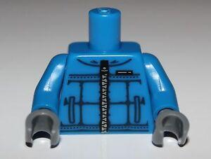 Lego Blue Torso Winter Sports Jacket Silver Zipper Pockets Snow Board Pattern