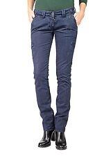 Niedrige Gerades-Bein Damen-Hosen im Cargo, Militär-Stil