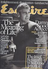 Esquire magazine (Jan 05) - George Clooney, Paz Vega, Pamela Anderson, more