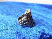 schöner ,alter ,großer Ring ,  800 Silber mit Onyx - Platte !
