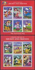 Ghana  2685 - 90 KB + 2691 - 96 KB **, Walt Disney - 70 Jahre Micky Maus (16 ME)