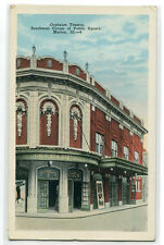 Orpheum Theater Theatre Marion Illinois postcard