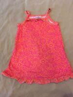 Hanna Andersson Sundress 100 Girls Pink Ruffled 4T Dress