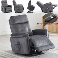 Electric Power Lift Recliner Chair For Elderly Padded Arm Seat w/ Remote Control