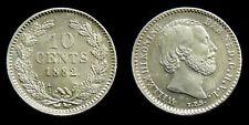 Netherlands - 10 Cent 1882 vrijwel UNC originele muntkleur