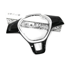 VW Blende für Lenkrad Original Abdeckung Lederlenkrad Aluminium / schwarz