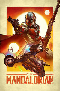 Mandalorian Canvas 20X30 Inches Wall Art ON OFFER for Christmas