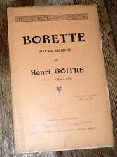 Bobette java orchestre dancing avec piano conducteur 1935 Henri Goitre Alger