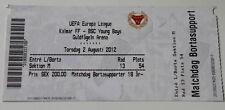 old TICKET EL Kalmar FF Sweden - Young Boys Bern Switzerland Suisse