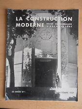 Revue - Catalogue construction moderne n°1 1937
