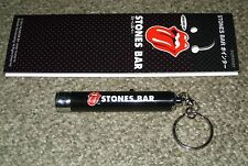 The ROLLING STONES Japan NOT FOR SALE keyring LOGO light FLAT BATTERY not tested