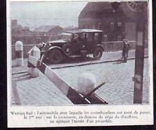1935  --  AUTOMOBILE A WERVICQ  FRONTIERE  W300
