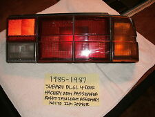 1985-1987 SUBARU DL GL SEDAN FACTORY OEM PASSENGER RIGHT TAILLIGHT FREE SHIPPING