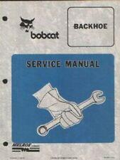 BOBCAT BACKHOE Manuale servizio-modelli Backhoe - 905B, 907, t906, 909, 911, 913