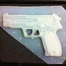"Large Pistol Gun Flexible Resin Mold 4.5"" x 3.25"" x 1/4"" thick"