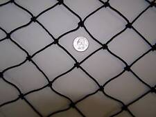 """18' x 10' Black Nylon Net For Batting Cages 1 7/8""""  #36 Round Bale Hay Netting"""