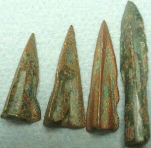 LOT OF 4 ROMAN BRONZE ARROWHEADS