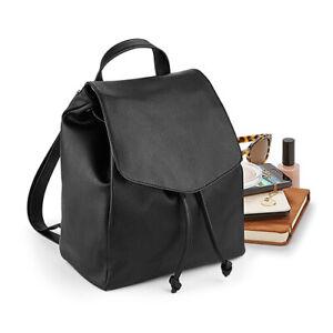 QUADRA NuHide Mini Backpack Leather Look Vintage Style Magnetic Closure QD881