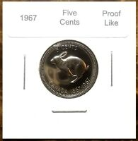 Canada 1967 Proof Like Gem Centennial Five Cents Nickel!!