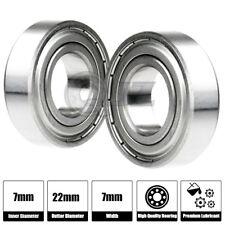 2x 627-ZZ Ball Bearing 22mm x 7mm x 7mm ZZ 2Z NEW QJZ Free Shipping Metal