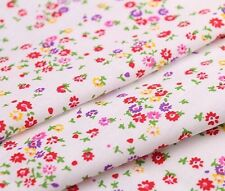 QX 160cm Wide Red Purple Yellow Floral Print Mini Flower Print Cotton Fabric