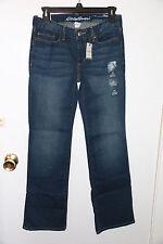 Eddie Bauer womens boot cut Truly Straight denim jeans sz 2S short(31) NWT