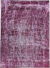 Fin Vintage Picasso Aspect Jean Laver Persan Tapis D'Orient 3,32 X 2,41