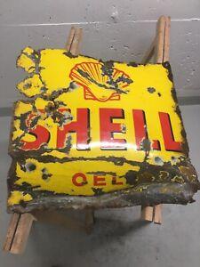 Original Shell Oel Emailschild